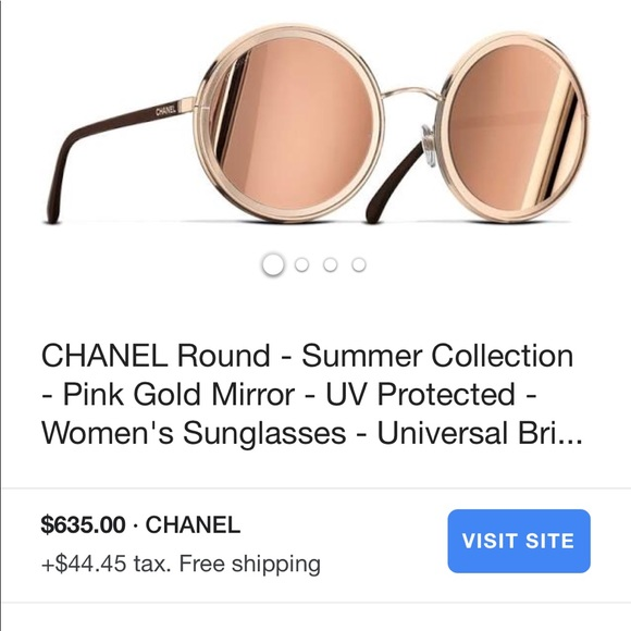 f0302ed12bf4 Rose gold chanel sunglasses